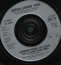"JESUS LOVES YOU generations of love 7"" WS EX/ uk PROT 10"