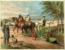 John Deere Admiring His Gilpin Plow, Moline, IL poster