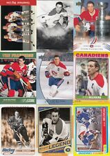 JEAN BELIVEAU a lot of 9 DIFFERENTS CARDS & INSERTS  LOT 19