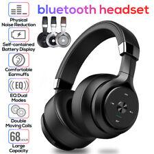 🔥 LED Wireless bluetooth Headphones Foldable Headset Stereo HiFi Bass  *