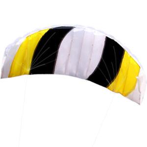 1.4m Power Kite outdoor FUN surfing Toys Parafoil Parachute DUAL LINE NEW