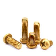 Button Head Brass Screw Phillip Machine Screws Copper Material M2 M3 M4 M5 M6