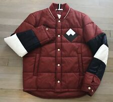 Bally Red Down Puffer Jacket Size US Medium, EU 50 Made in Italy