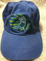 Crested Butte Colorado Ski Snowboarding Blue Baseball Cap Hat