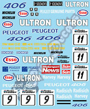 1/10 Touring Car Sticker Set BTCC Peugeot 406 1998 Xray VBR PR RACING Schumacher