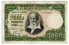 Espagne SPAIN ESPANA Bilet 1000 PESETAS 1951 P143 JOAQUIN SOROLLA BON ETAT