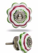 Möbelknauf Möbelgriffe Möbelknopf Modell GREEN + RED Melon Knob grün und rot