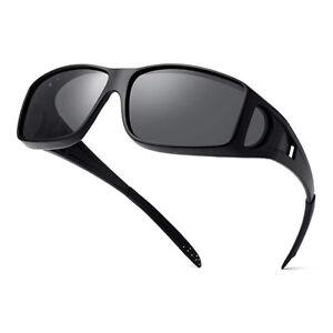 2 Pair Polarized Fit Over Sunglasses Glasses Sports Driving Glasses UK