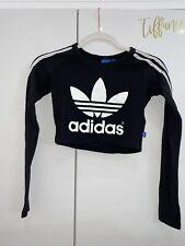 Adidas Long Sleeve Crop Tshirt | Black | Size 4