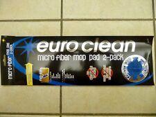 2 New Euro Clean Micro Fiber Dust Mop Hook & Loop Pads Universal Pad 5 x16 inch