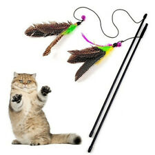 Mouse Pet Accessories Playing Teasing Nature Feather Cat Funny Wand pet toys