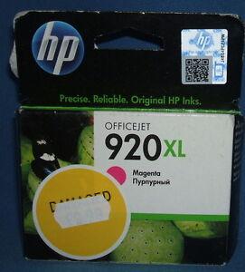 HP 920XL (CD974AE) Magenta Ink Cartridge  HP Original (Out of Date Aug/2013)