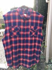 FOG | Fear Of God x PacSun |Sleeveless Plaid Flannel Shirt | size Large