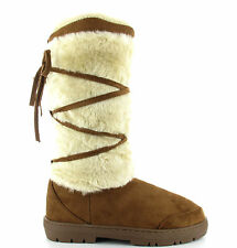 """Ella shoes """"KITTY"""" faux fur TALL snow warm winter FULLY FUR LINED boot"""
