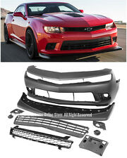 Z28 Style Front Bumper Cover + Lip + Grille W/ Fog Covers For 14-15 Chevy Camaro