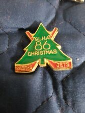 1986 Youth Hockey Enamel Collectors Pin GLHA Christmas Tournament Sabres Jets