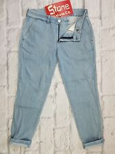 Levis Made & Crafted Pale Blue High Waisted Tapered Boyfriend Jeans Zip Fly W28