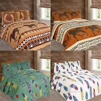 Luxury Western Horse & Dream Catcher Feathers Bedspread Comforter Set 3pc Quilt!