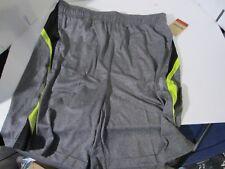 Reebok Men's Borg Shorts Charcoal Heaterh/Lime Punch Size Large Reg $45