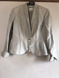 "Ladies Short ""wedding Style"" Linen Mix Jacket - Size 14"