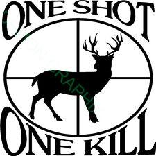 5x5 One Shot One Kill Vinyl Decal/Sticker Whitetail Deer Hunting buck bullseye
