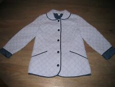 EUC Brooks Brothers Quilted Seersucker Blue & White Striped Jacket Coat. sz  M