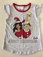 Mattel Barbie Girls Size 5 Merry Christmas T-Shirt
