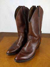 VTG Abilene Brown Cowboy Boots Men's Size 10 D Bull Riding Western Leather USA
