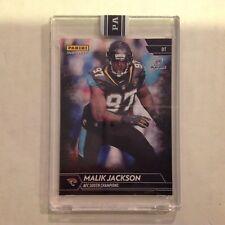 Malik Jackson #343 RC Jaguars / Tennessee 1/1 Made 2017 Panini Instant Black