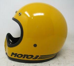 Vintage Bell Moto 3 Helmet / Bell Moto III / Yellow & Black / Must See!