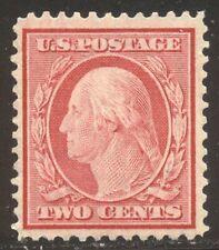 U.S. #358 Mint Vf Nh - 2c Carmine on Bluish Paper ($170)