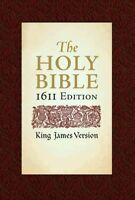 Holy Bible : King James Version, Bonded Leather, 1611 Edition, Hardcover, Bra...