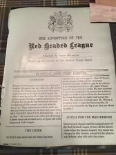 Baker Street: Adventure of the Red Headed League - Board Game - Promo - Awesome!