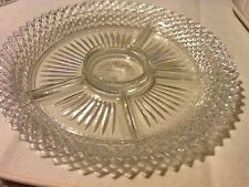 Miss America Crystal Clear Five Part Relish Dish 11 1/2""