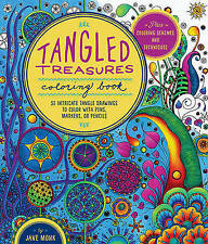 NEW Tangled Treasures Coloring Book By Jane Monk Paperback