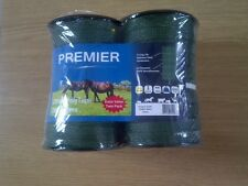 Electric fencing tape 2 rolls of 20mm x 200m GREEN tape 400m total length
