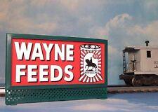 WAYNE FEEDS ALLIED MILLS LIGHTED BILLBOARD AD for AF & LIONEL O / O-27 TRAINS