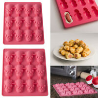 New 1/2PC Multifunction 12 Little Pig Silicone Cake Baking Pink Mould  A