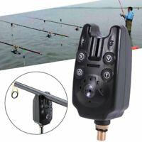 US Electronic LED Light Fishing Bite Sound Alarm Alert Bell Clip On Fish Rods