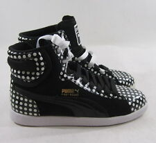 PUMA FIRST ROUND POLKA 34655801 white/black hi top leather athletic size 6.5
