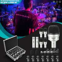 Neewer 7-pack Wired Drum Instrument Microphone Kit Drum/Tabour/Condenser Mic Set