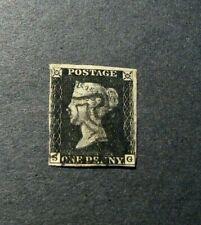Great Britain Stamp Scott# 1 Queen Victoria 1840  L321