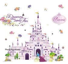 DISNEY PRINCESS CASTLE Wall Stickers Art Decor Girls Bedroom Baby Nursery Decals