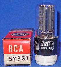 NOS NIB RCA 5Y3GT Rectifier Tube 1950s Dates Silver Printing