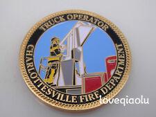 TRUCK OPERATOR CHARLOTTESVILLE FIRE DEPARTMENT CHALLENGE COIN