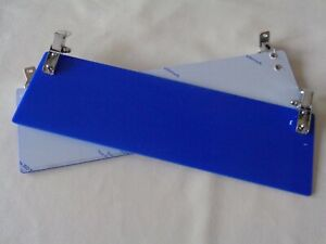 Classic Mini Sun Visors - blue perspex*new*