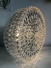 Vintage Mid Century Hobnail Star Clear Glass Ceiling Wall Light Shade No Fitting