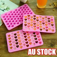 55 Love Heart Silicone Mould Mold Chocolate Candy Gummy Maker Ice Jelly Tray VW