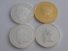 4 MÜNZEN USA / 2 x FLOWING HAIR DOLLAR, V CENTS,TWENTY DOLLARS