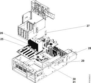 IBM EPC8 3.7GHz 4-Core POWER7 Processor Module 74Y8589 543B